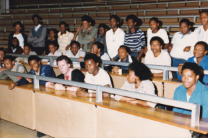 Michael with physics students at Unibo (mid-80s)